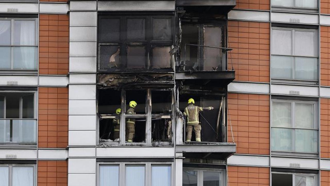 London building fire raises fresh anger over flammable cladding