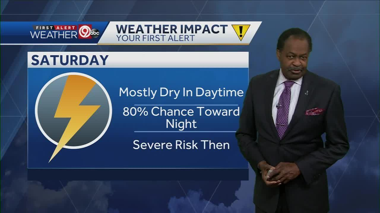 Most of Saturday looks dry, some storms possible late