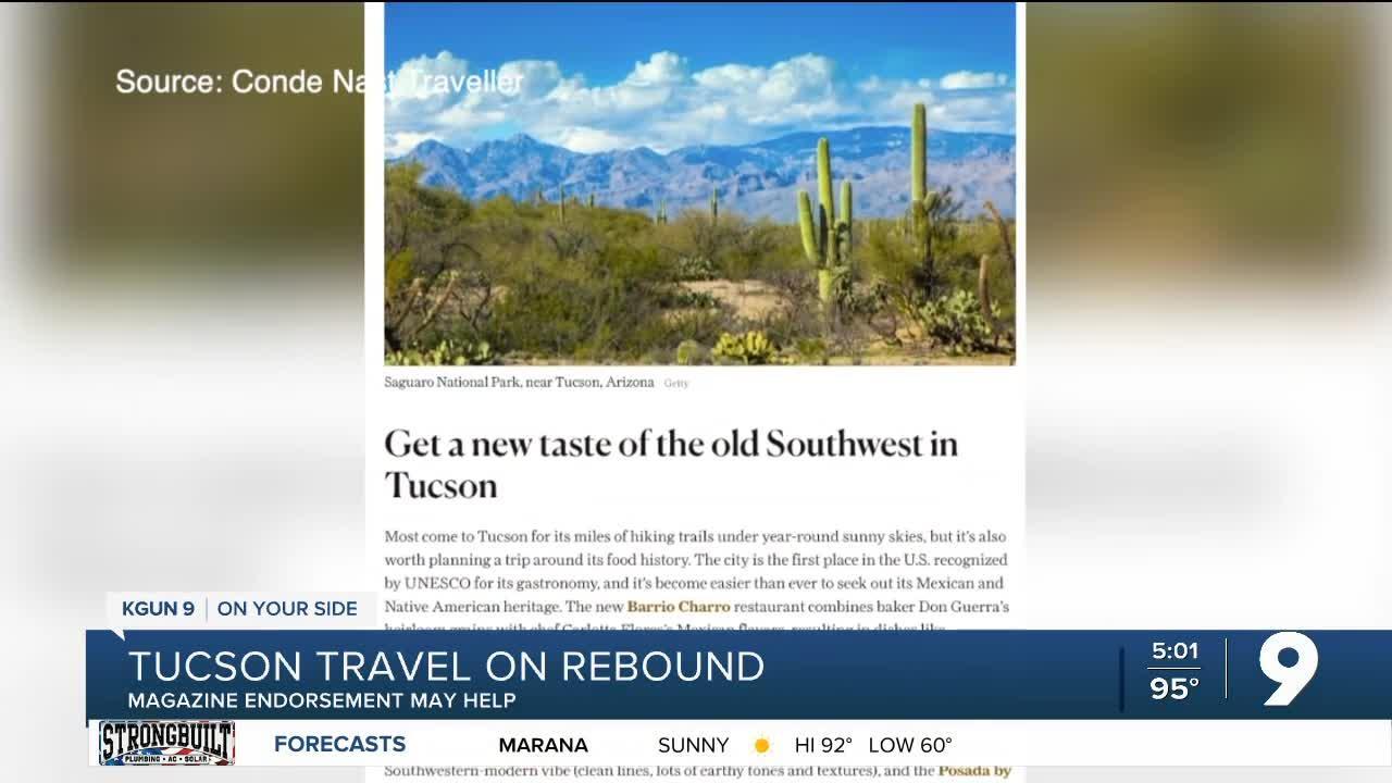 Tucson travel rebounding