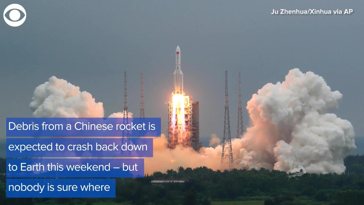WEB EXTRA: Chinese Rocket Debris Expected To Crash Down To Earth This Weekend