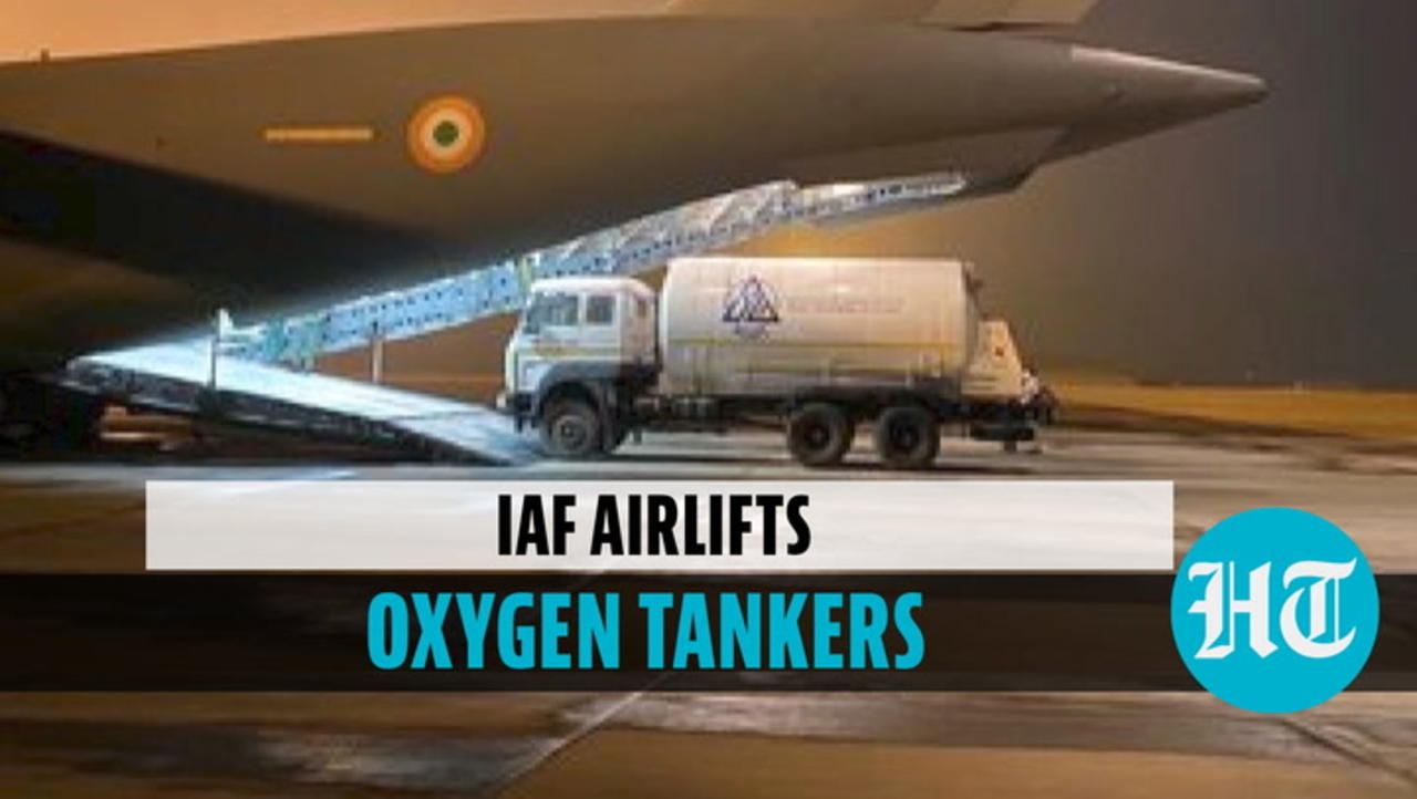 IAF aircraft with oxygen containers from Singapore lands in WB's Panagarh airbase