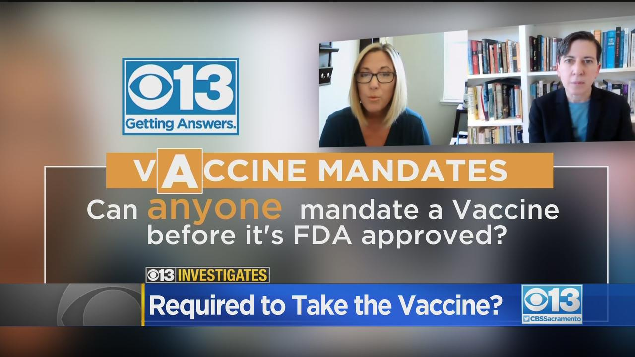 CBS13 Investigates: Can You Be Required To Get The COVID-19 Vaccine?