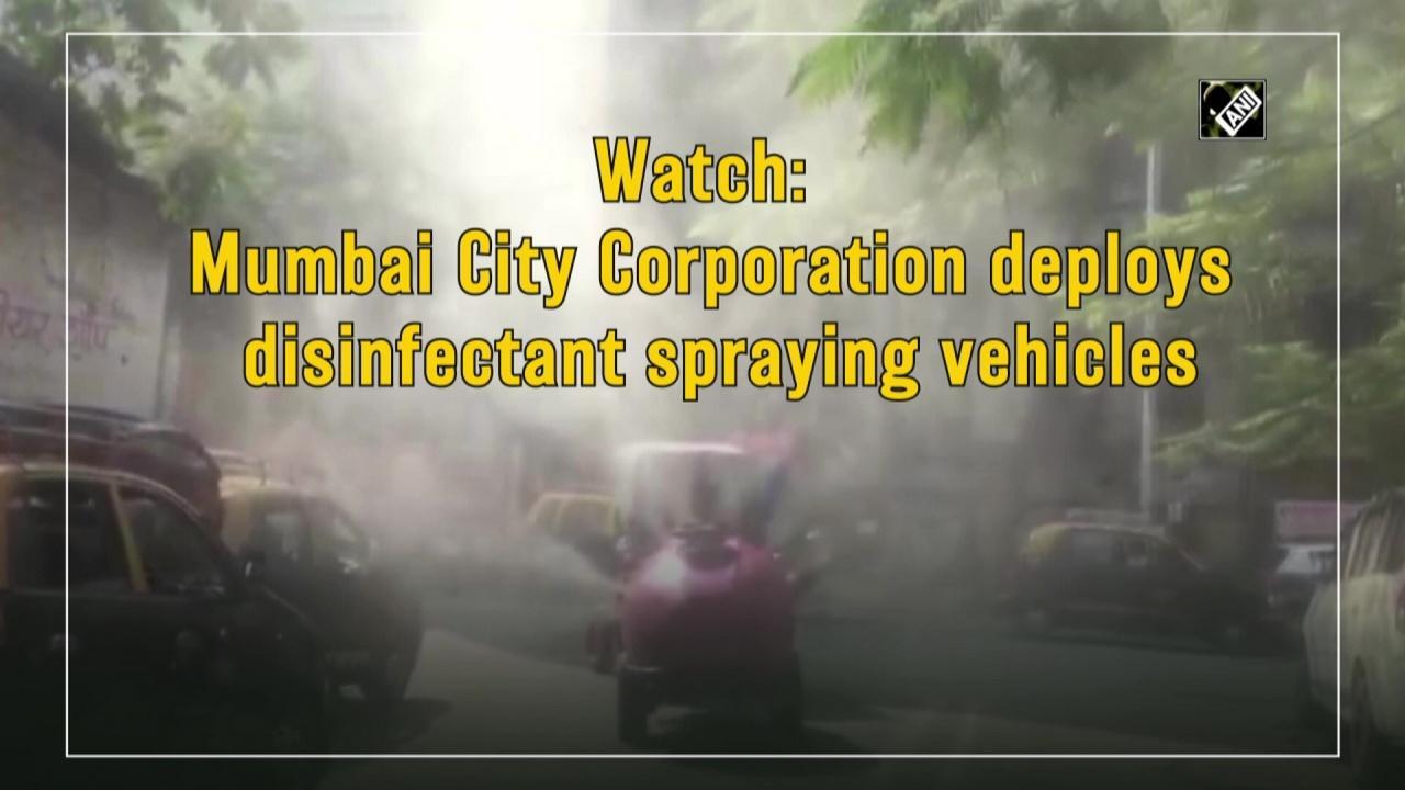 Watch: Mumbai City Corporation deploys disinfectant spraying vehicles
