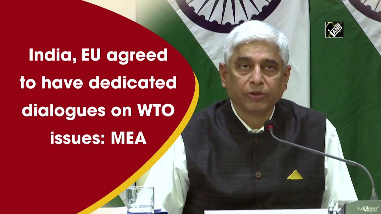 India, EU agreed to have dedicated dialogues on WTO issues: MEA