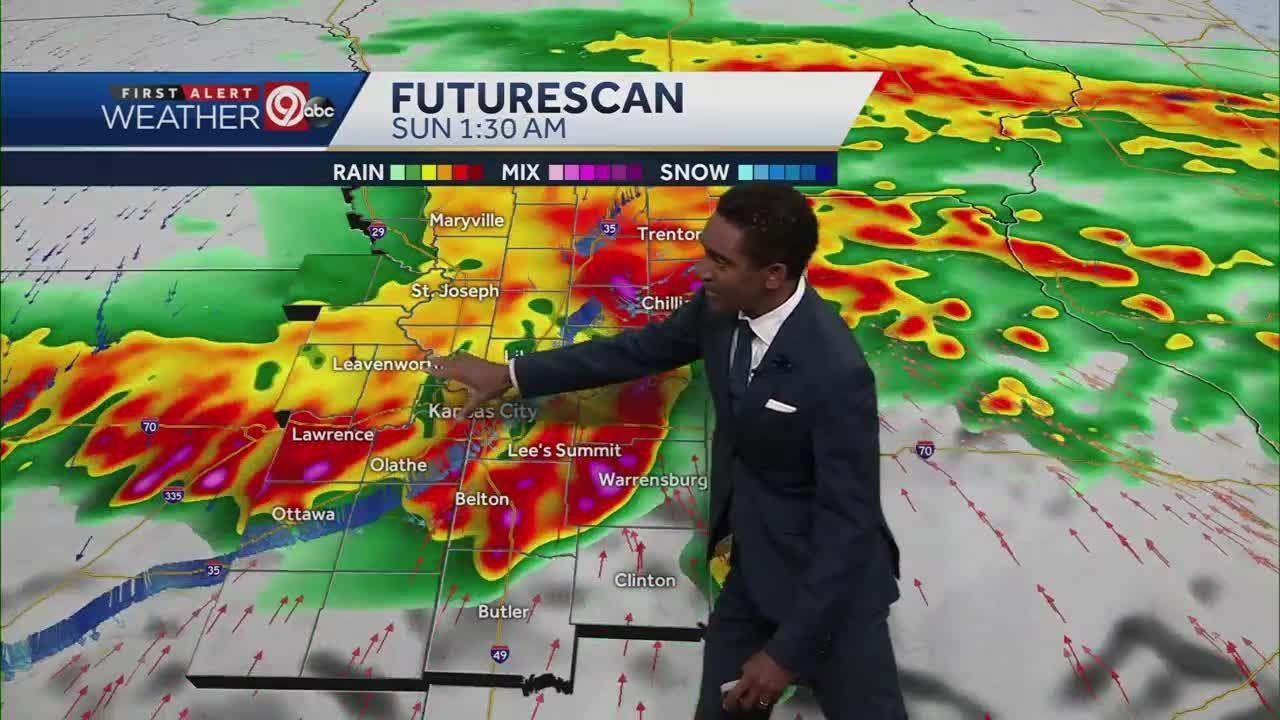 Storms expected to roll in late Saturday night, overnight