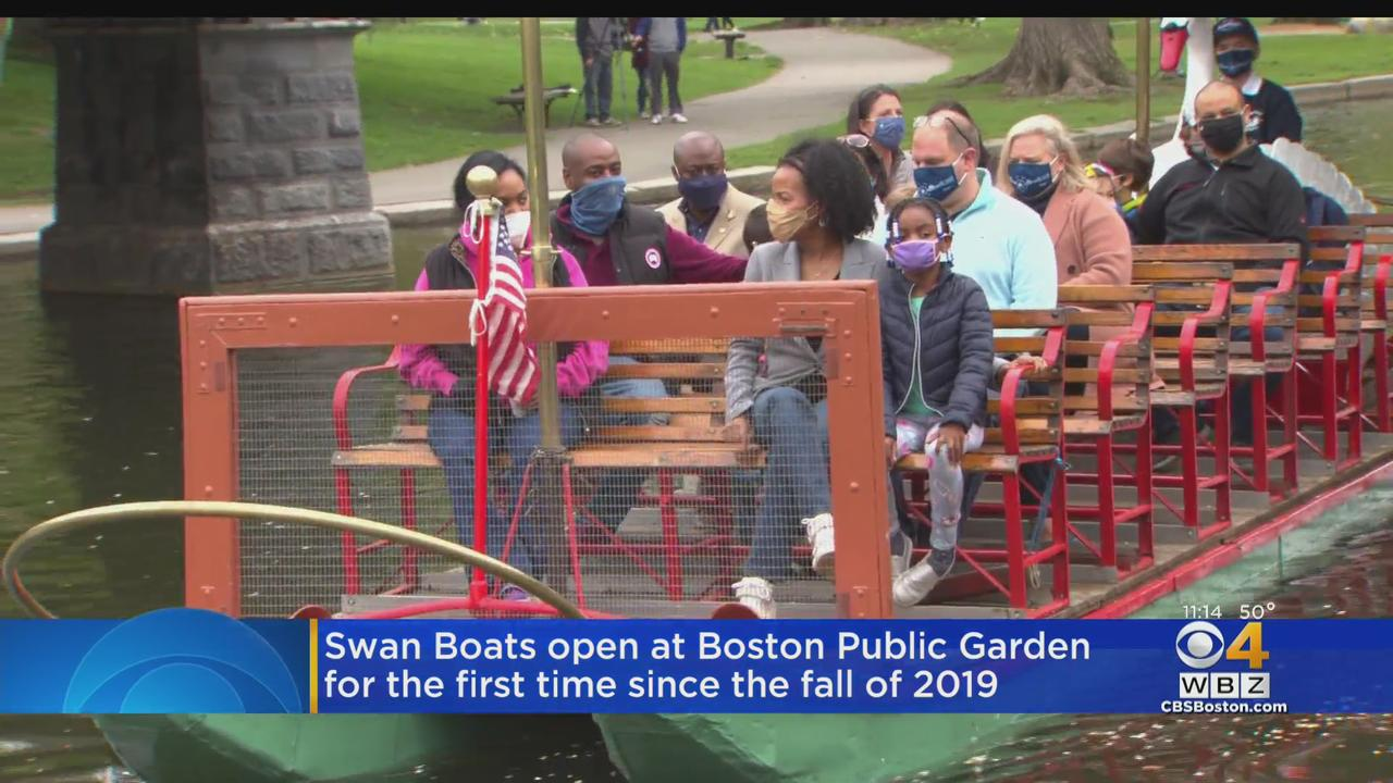 Swan Boats Open At Boston Public Garden For 1st Time Since Fall Of 2019