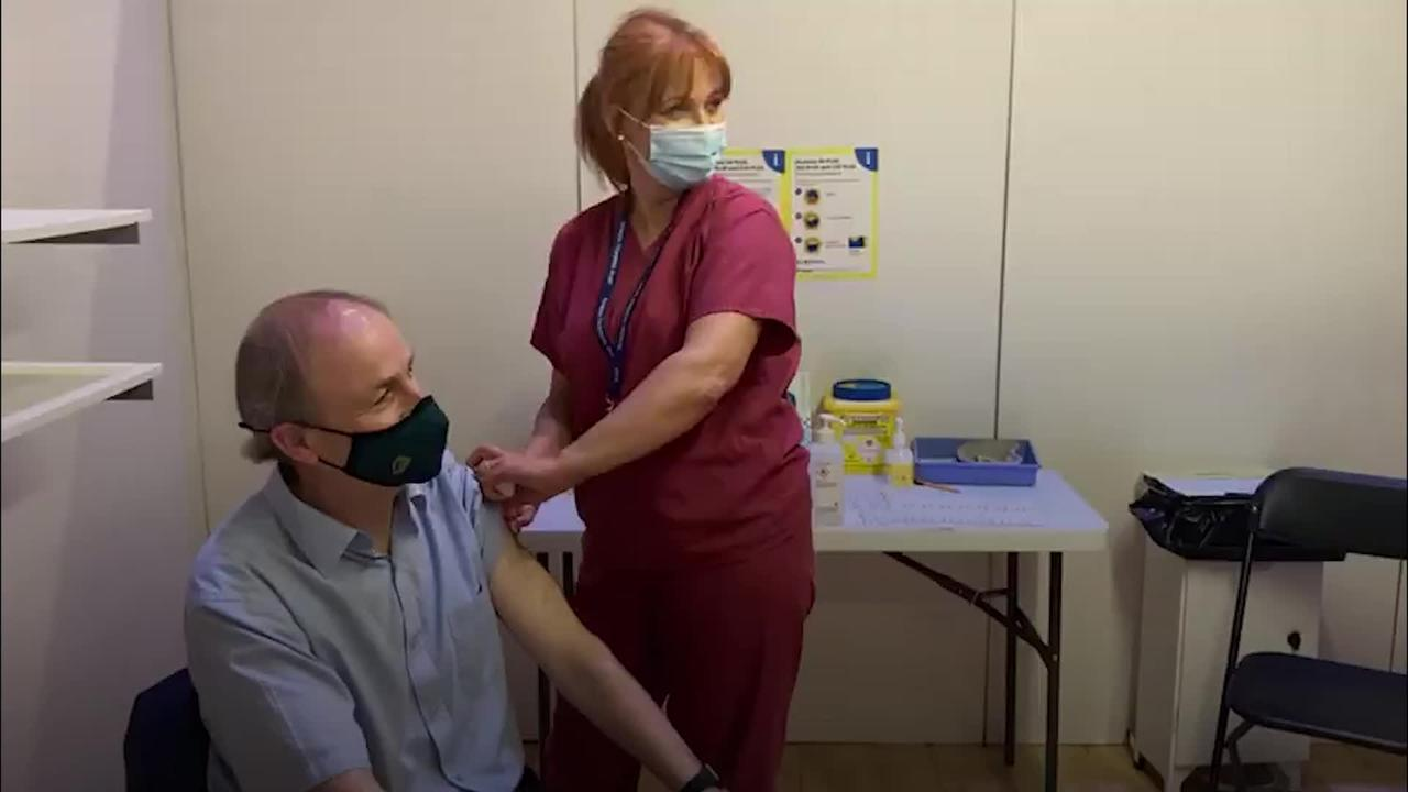 Taoiseach receives AstraZeneca vaccine