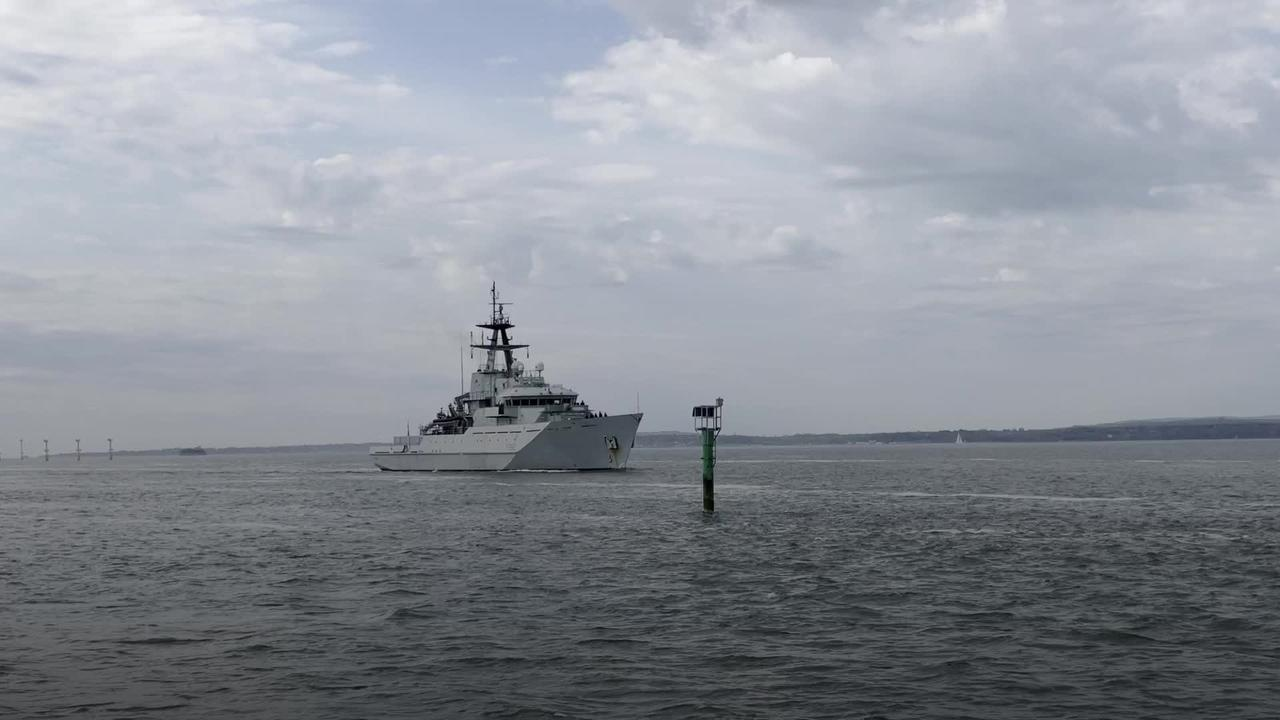 Royal Navy ship returns from Jersey after fishing dispute