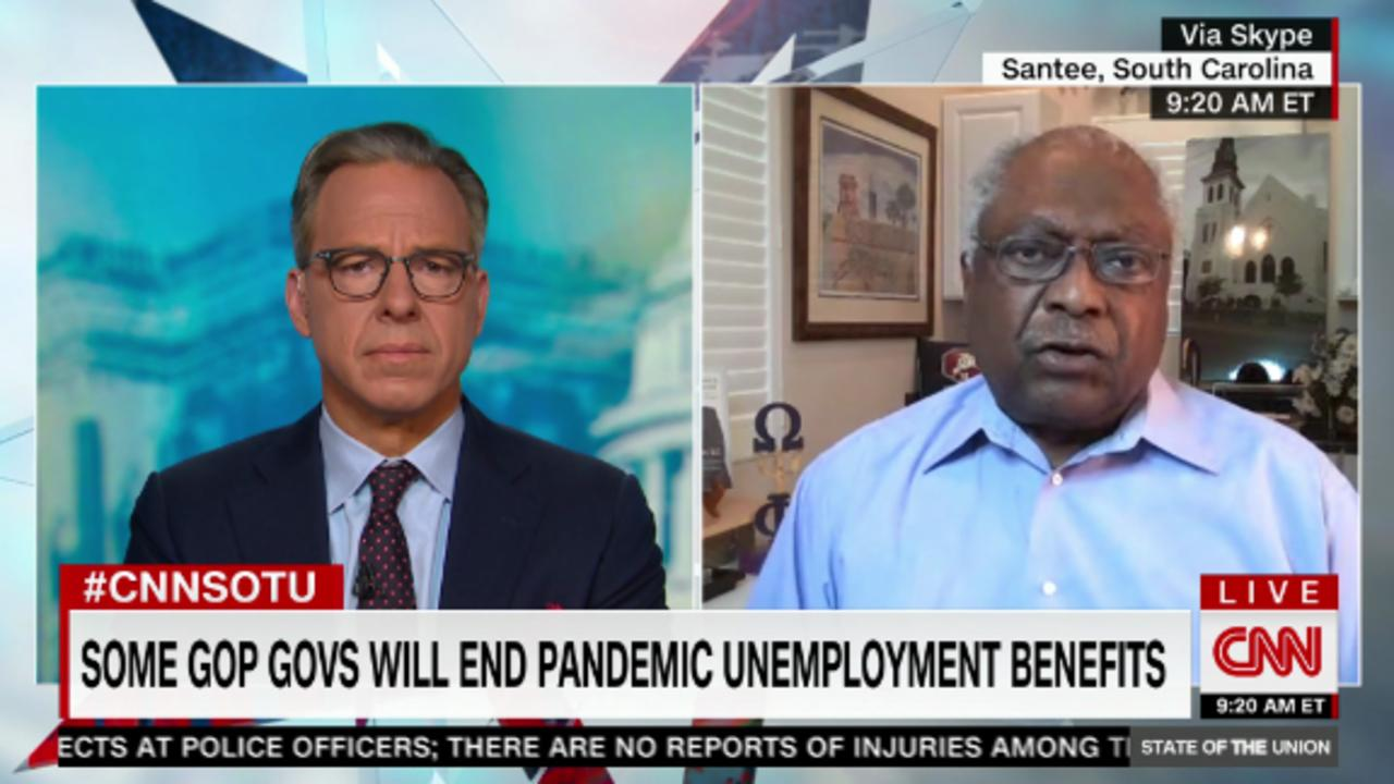 Clyburn blasts moves by GOP governors to cut jobless benefits