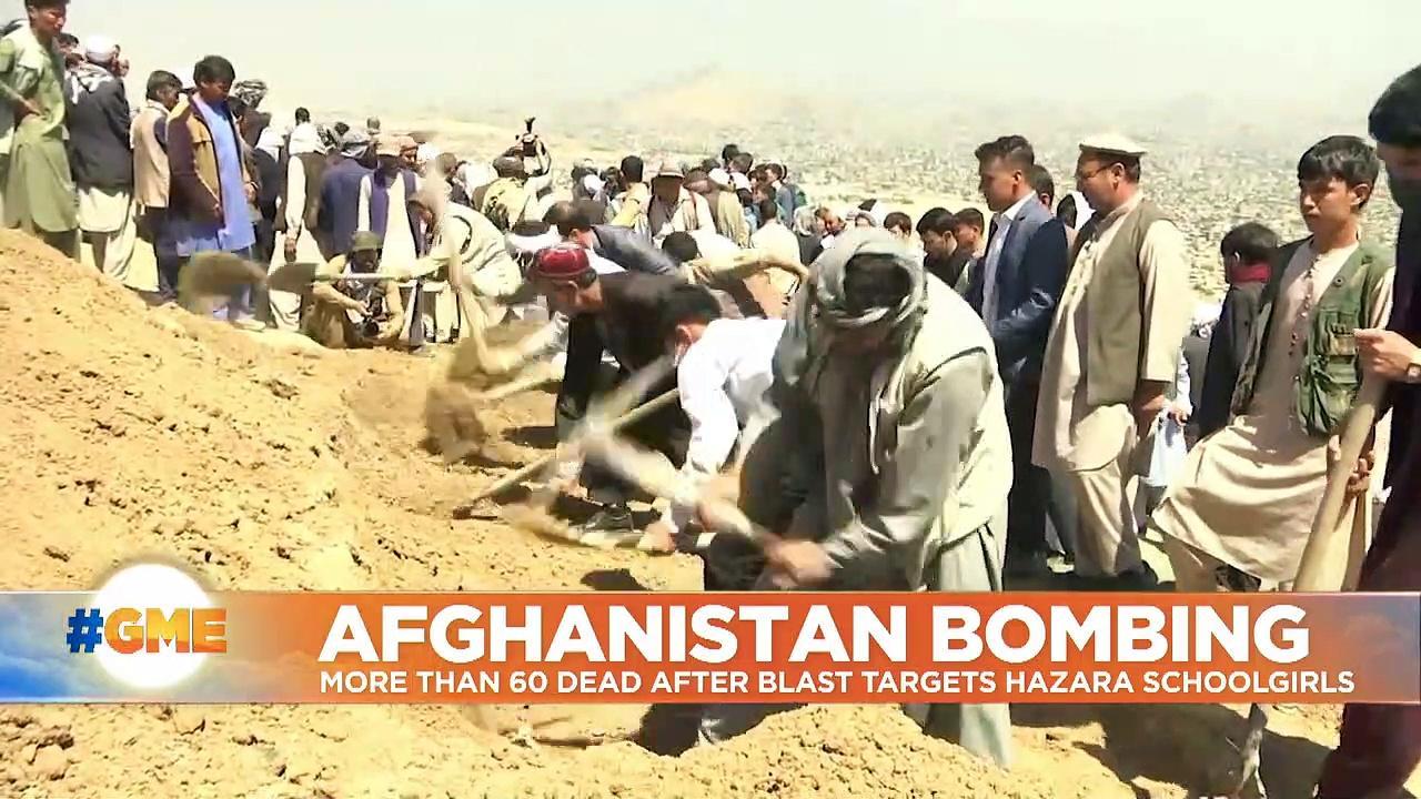Afghans mourn schoolgirls killed in blasts as Taliban plans three-day ceasefire for Eid