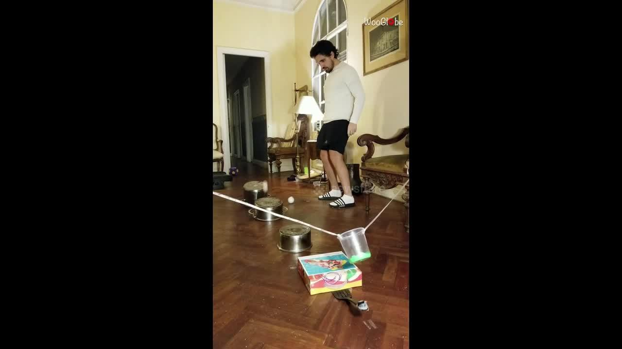 King of trick shots? Argentine man makes series of mind-blowing stunts