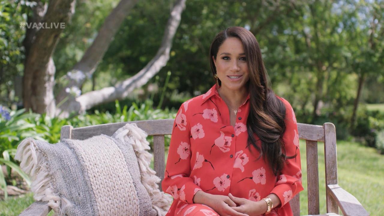 Meghan Markle Wears Necklace In Honour Of Her Daughter During 'Vax Live'