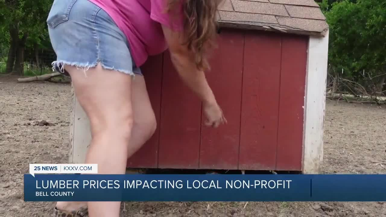 As building supplies prices rise, a local nonprofit is feeling the effects