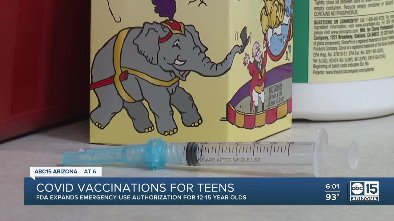FDA authorizes Pfizer COVID-19 vaccine for use in teens