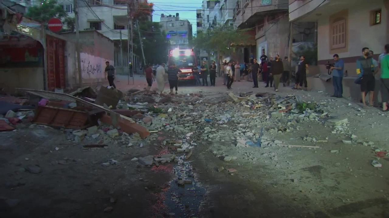 Rubble litters streets of Gaza following Israeli airstrikes