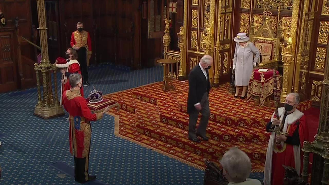Queen carries out first major ceremonial royal duty since Philip's death