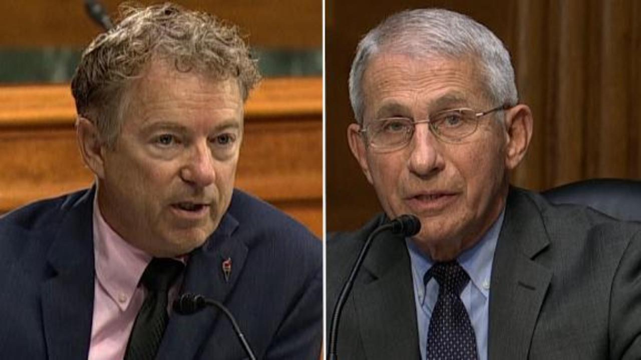 Rand Paul and Dr. Fauci clash over Wuhan lab theory