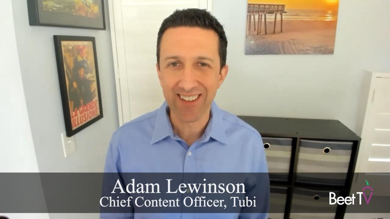 Content Personalization Underpins Microtargeting of Ads: Tubi's Adam Lewinson