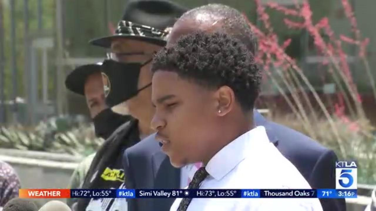 In lawsuit, LAPD officer's nephew alleges uncle ordered him shot with projectile during protest