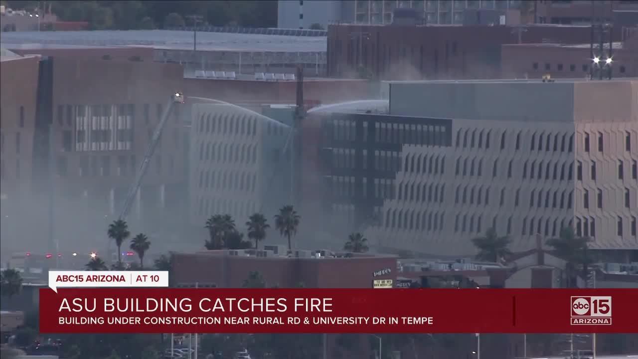 ASU building catches fire in Tempe