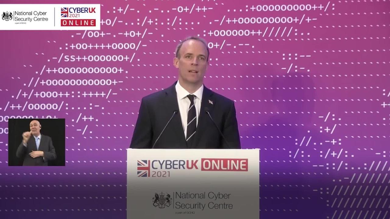 Raab calls out China and Russia in threat to democracy warning