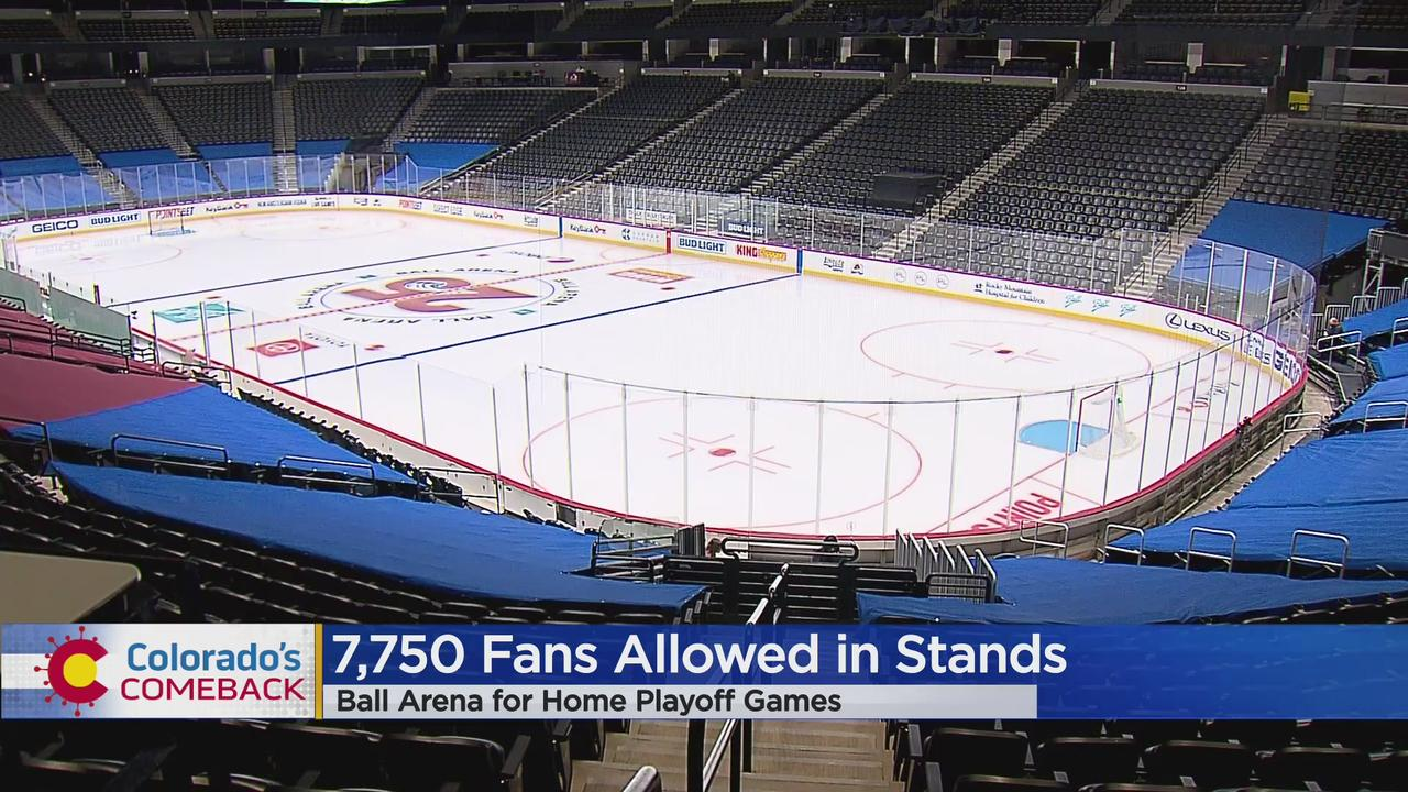 COVID In Denver: Ball Arena Increases Capacity To 7,750 For Colorado Avalanche, Denver Nuggets Playoff Games