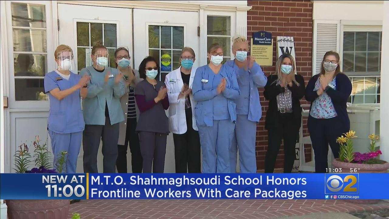 M.T.O. Shahmaghsoudi School Honors Front Line Workers With Care Packages