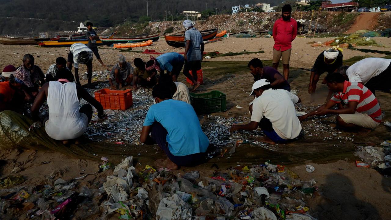 Eco-Shock: Disturbing Scenes Show Plastic Waste In Fishing Catch