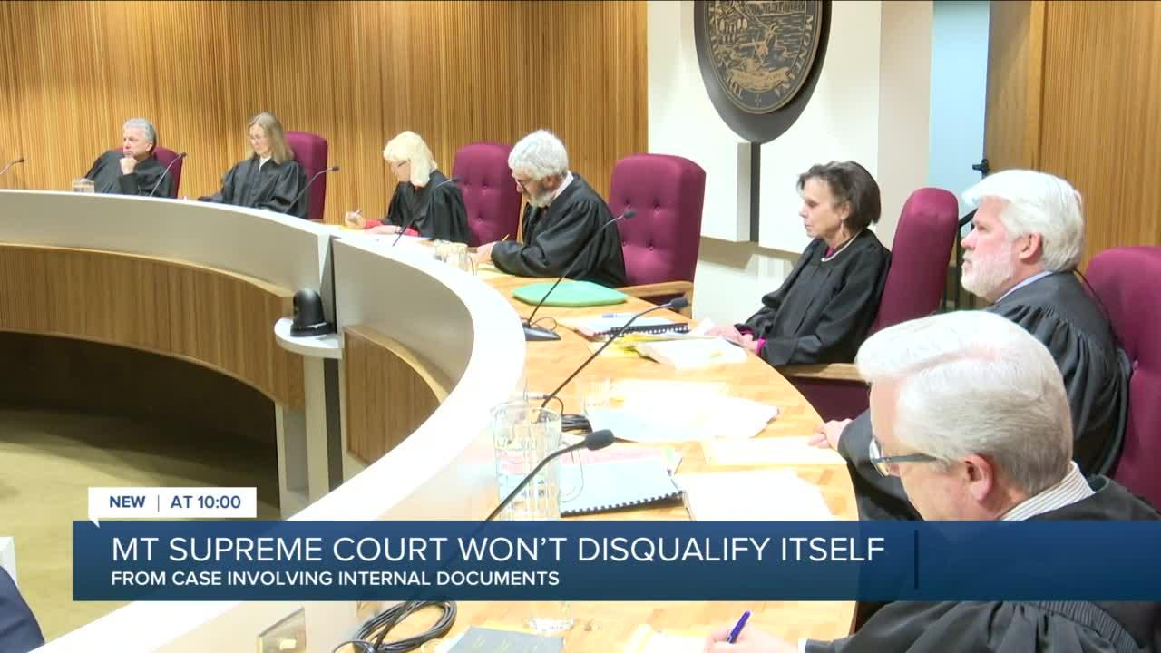 MT Supreme Court rejects AG request to disqualify itself in email case
