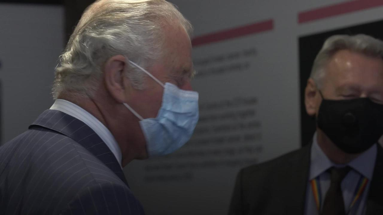 Charles meets scientists and charity donors at cancer research centre