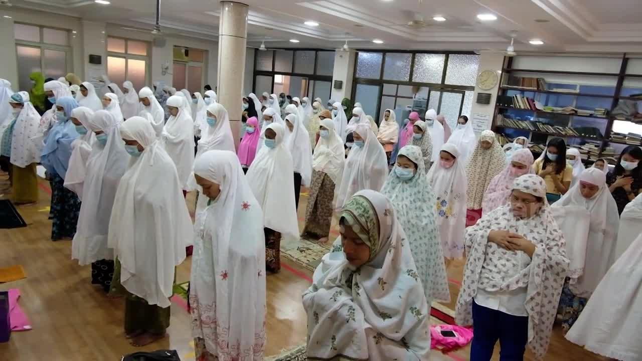 Muslims in Myanmar's Yangon celebrate Eid against coup backdrop