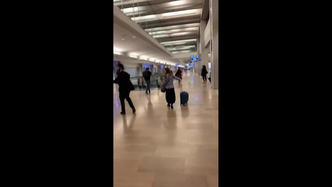 Chaos at Israeli airport after rocket attacks disrupt flights