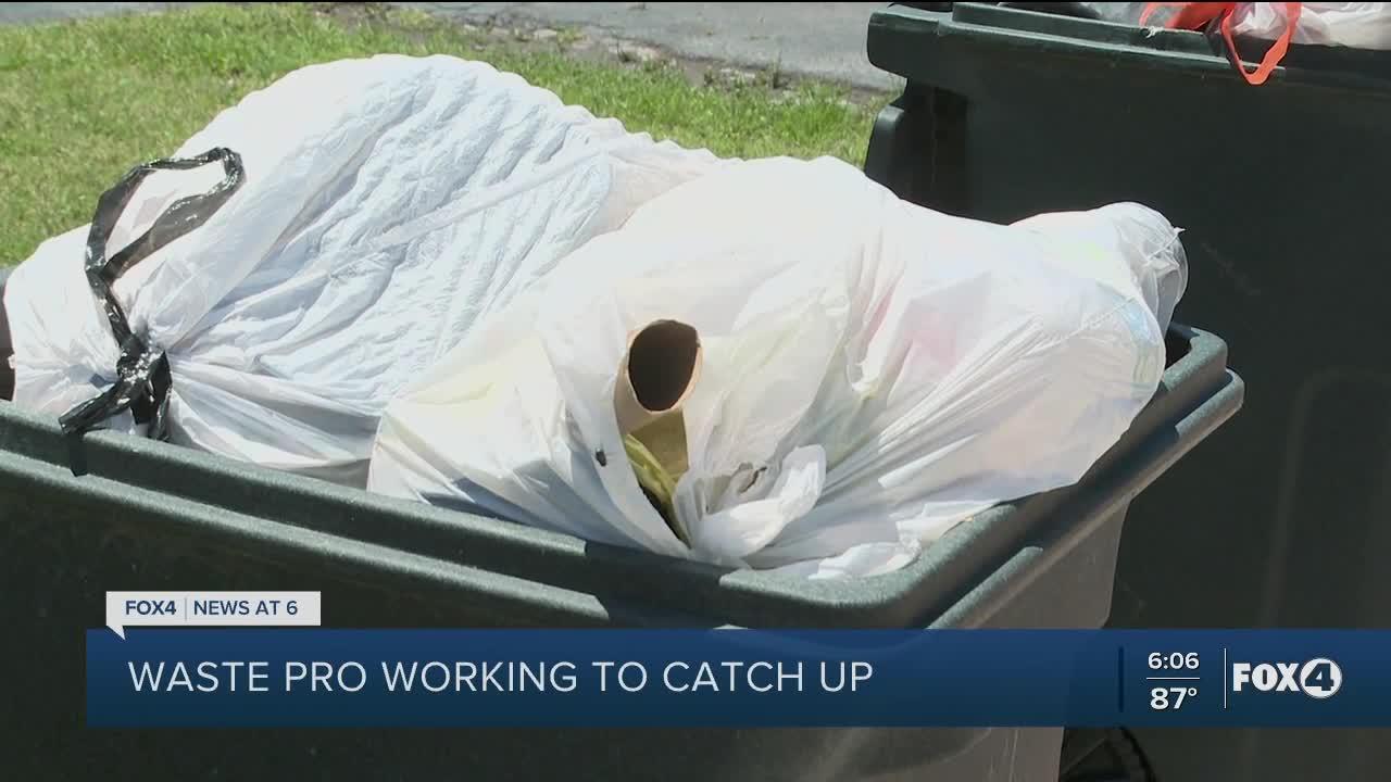 Waste Pro trash issue update