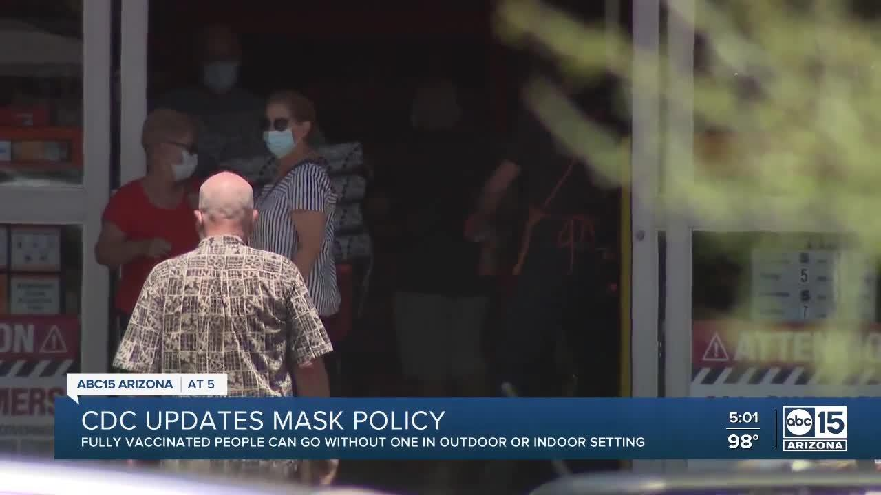 CDC says fully vaccinated Americans can go without face masks in most settings