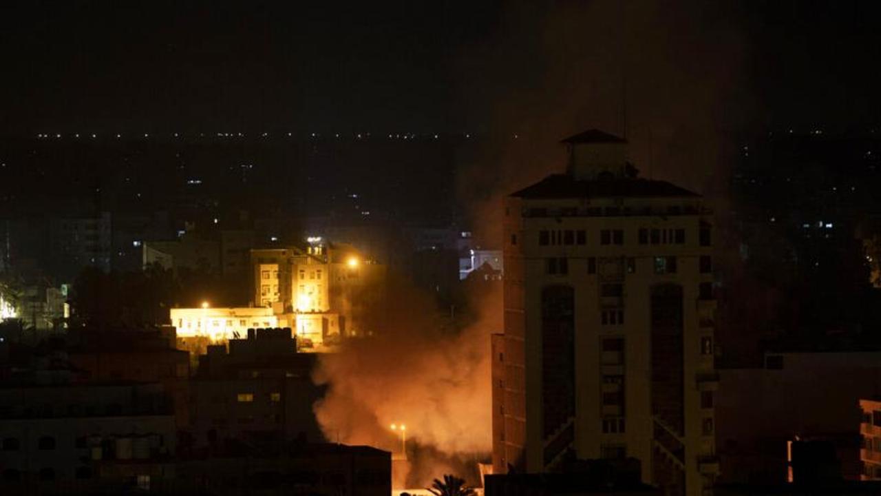 Israel builds up troops on Gaza border after overnight barrage