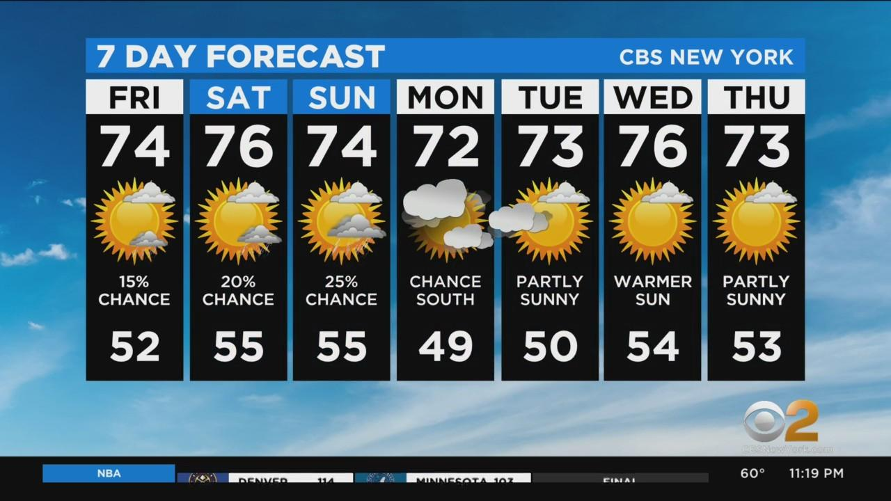 New York Weather: CBS2 5/13 Nightly Forecast at 11PM