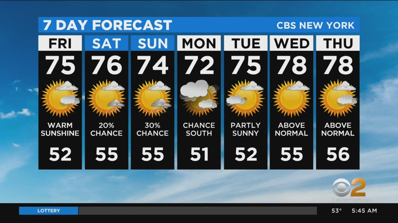 New York Weather: CBS2's 5/14 Friday Morning Update