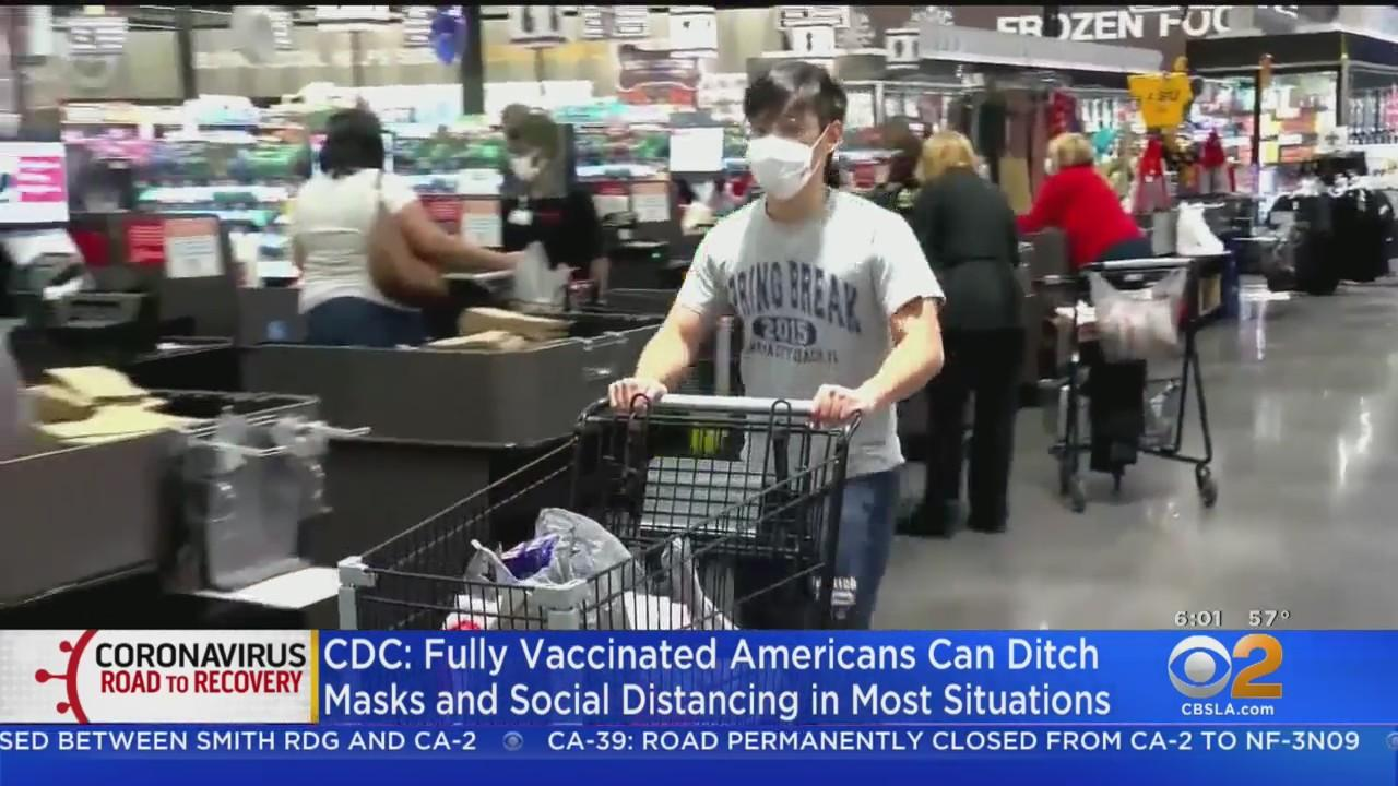 CDC Says Fully Vaccinated People Can Stop Wearing Masks In Most Indoor Settings