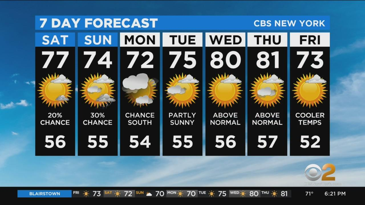 New York Weather: CBS2 5/14 Evening Forecast at 6PM