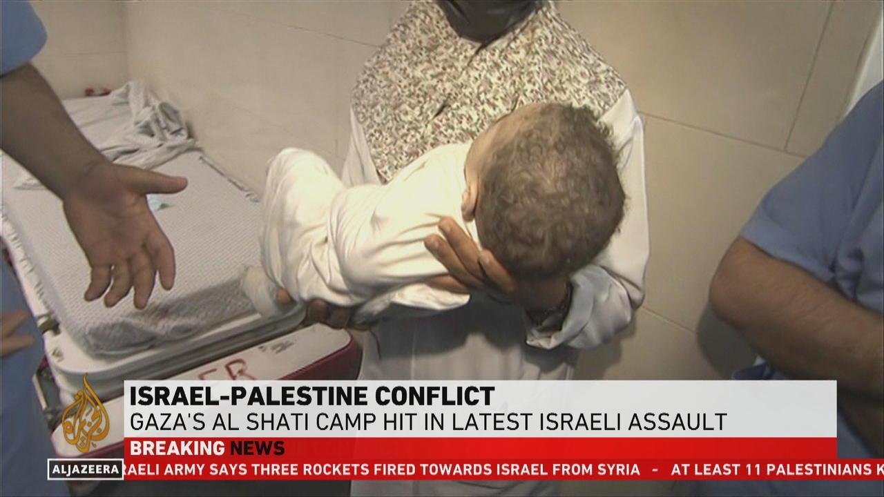 Gaza's Al Shati camp hit in latest Israeli assault