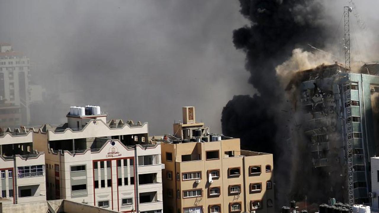 'Incredibly disturbing development': Israeli airstrike flattens media building in Gaza