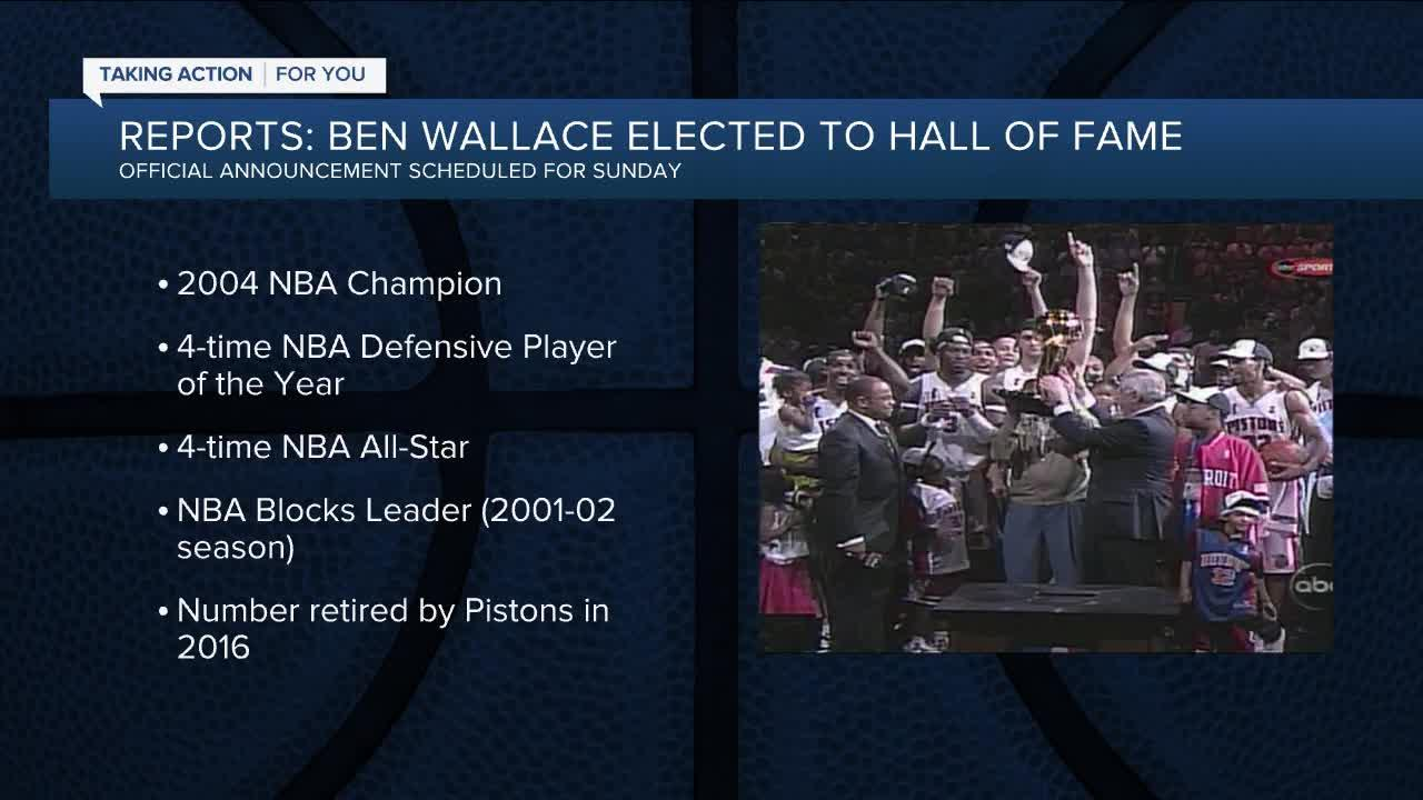 Reports: Ben Wallace elected to Basketball Hall of Fame