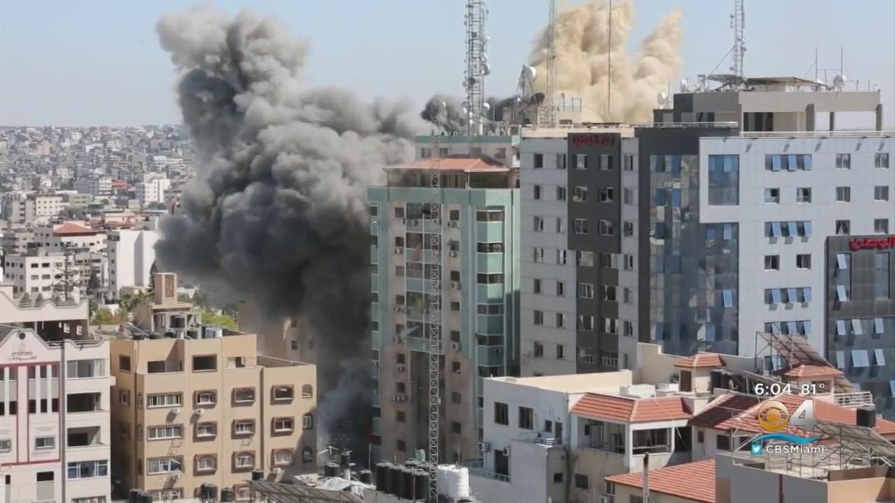 Israeli Air Strike Destroyed 12-Story Building In Gaza
