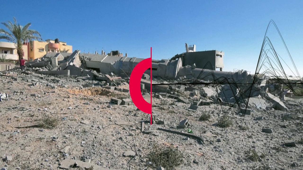 Mosque in Gaza hit by an Israeli air strike