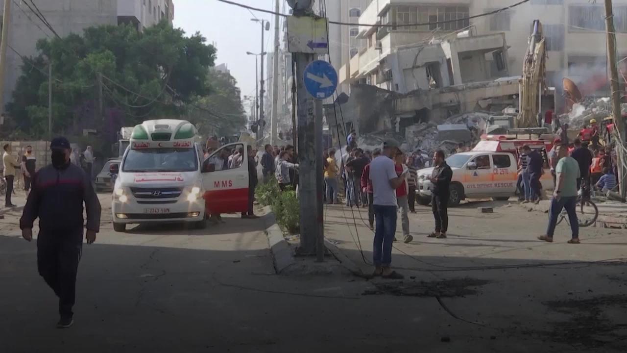 Israeli air strikes kill dozens in deadliest attack of latest violence in Gaza