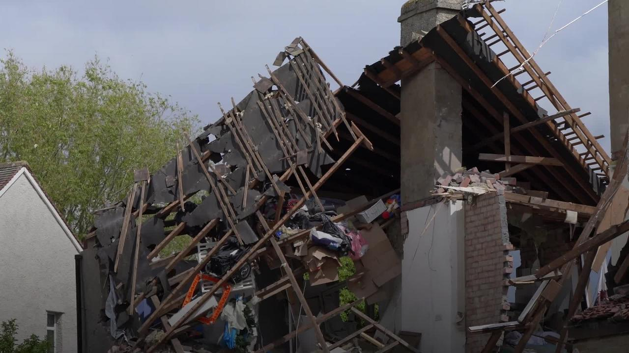 Young child killed in 'devastating' explosion which destroyed houses