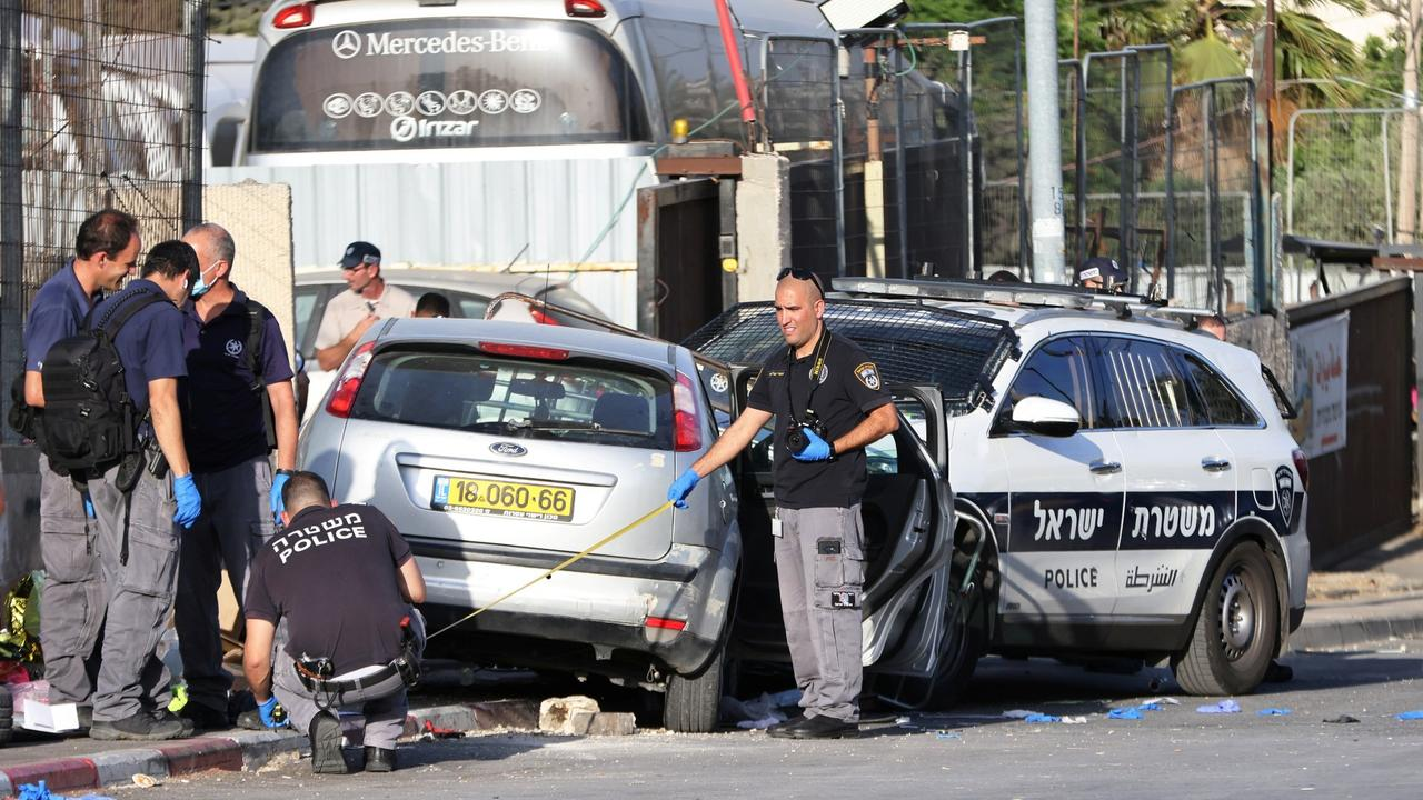Palestinian shot dead after car rams Israeli police in Jerusalem