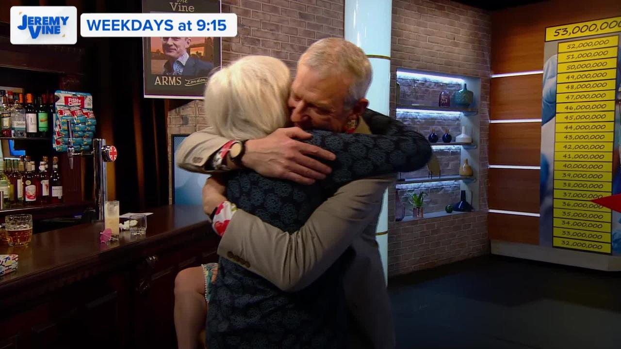 Jeremy Vine hugs his mum for first time since lockdown
