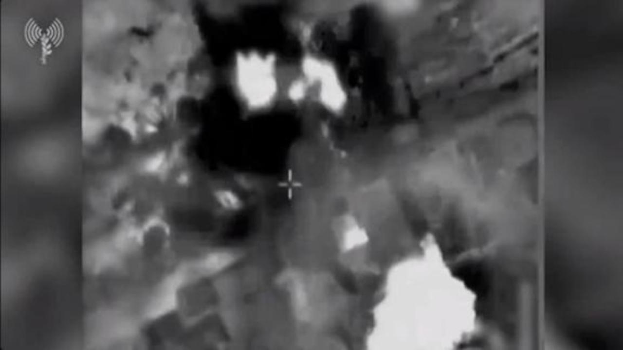 Footage shows what Israel says is its strikes on Hamas tunnels and leaders' homes