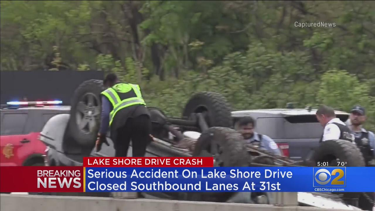 Two Injured In Crash On Lake Shore Drive Near 31st Street
